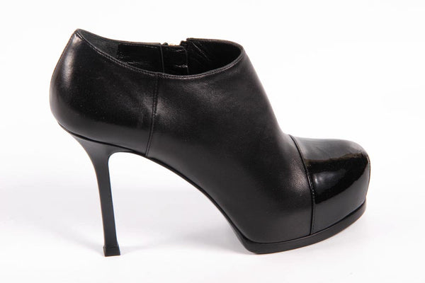Yves Saint Laurent Shoes Women Ankle Boots Black - LeCITY