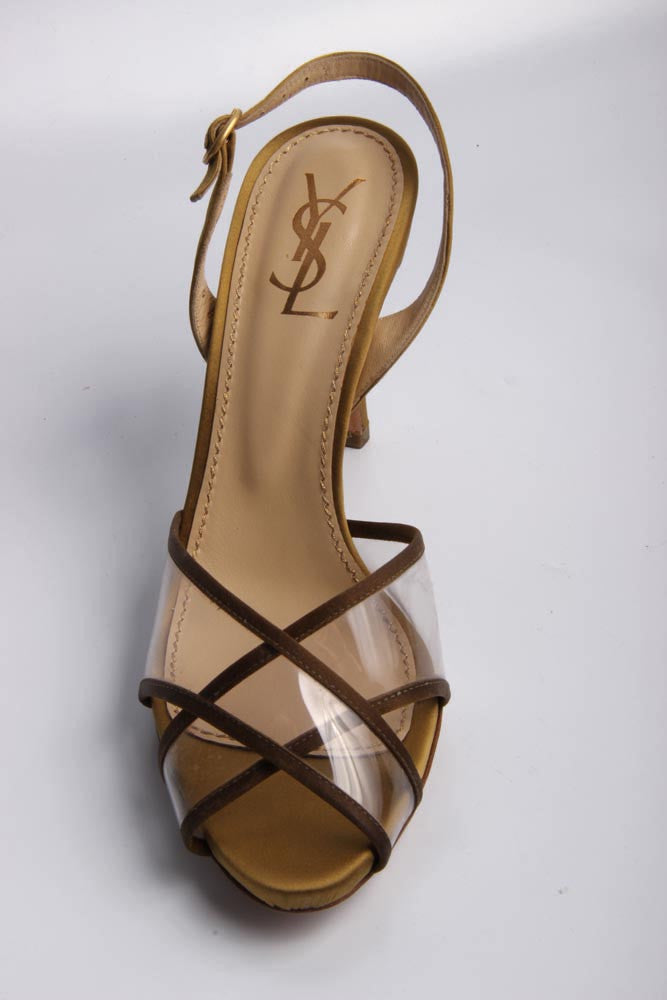 Yves Saint Laurent Shoes Women Sandals Gold - LeCITY