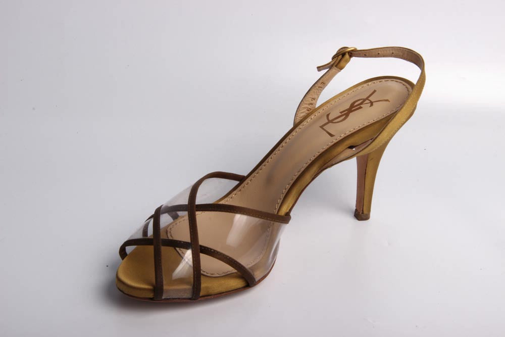 Yves Saint Laurent Shoes Women Sandals Gold