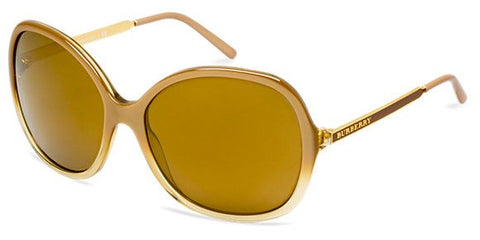 Burberry BE4126 Sunglasses-33706H Hazelnut Grad Yellow (Mirror Gold Lens)-59mm Over Sized