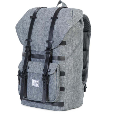 Herschel Little America Offset Raven Crosshatch stripe Dark Grey