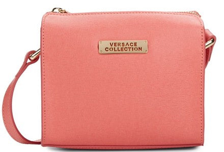 Versace Collection - Coral Saffiano Leather Cross Body Bag