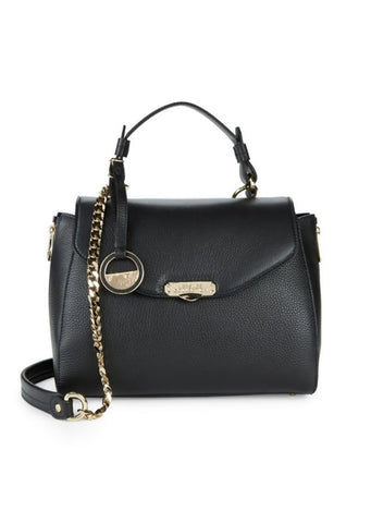 Versace Collection - Black Leather Top Handle Satchel Bag