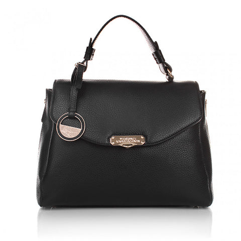 Versace collection - Black Vitello Stampa Alce bag black leather