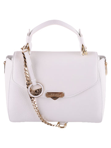 Versace Collection - White Tumbled Leather Bag