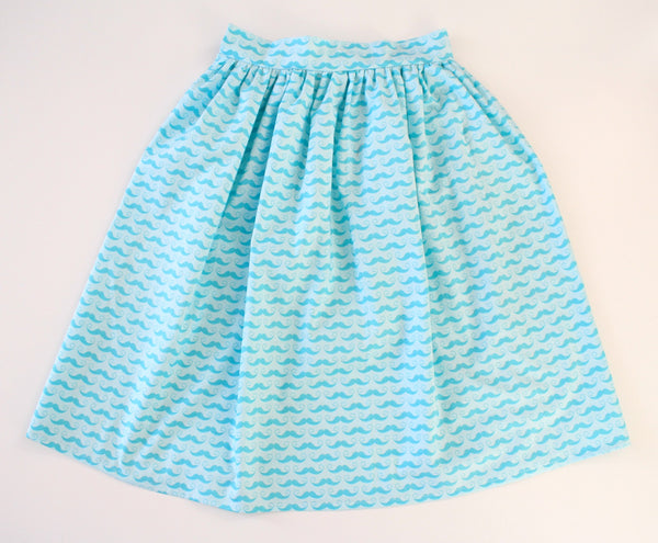 50% Off Christmas Sale: Pale Blue Polka Dot Skirt