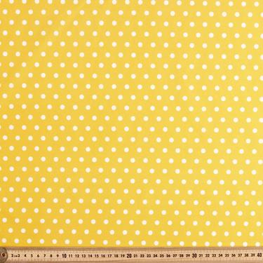 50% Off Christmas Sale: Yellow Polka Dot Pinup Dress