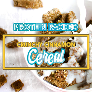 PROTEIN PACKED CRUNCHY CINNAMON CEREAL