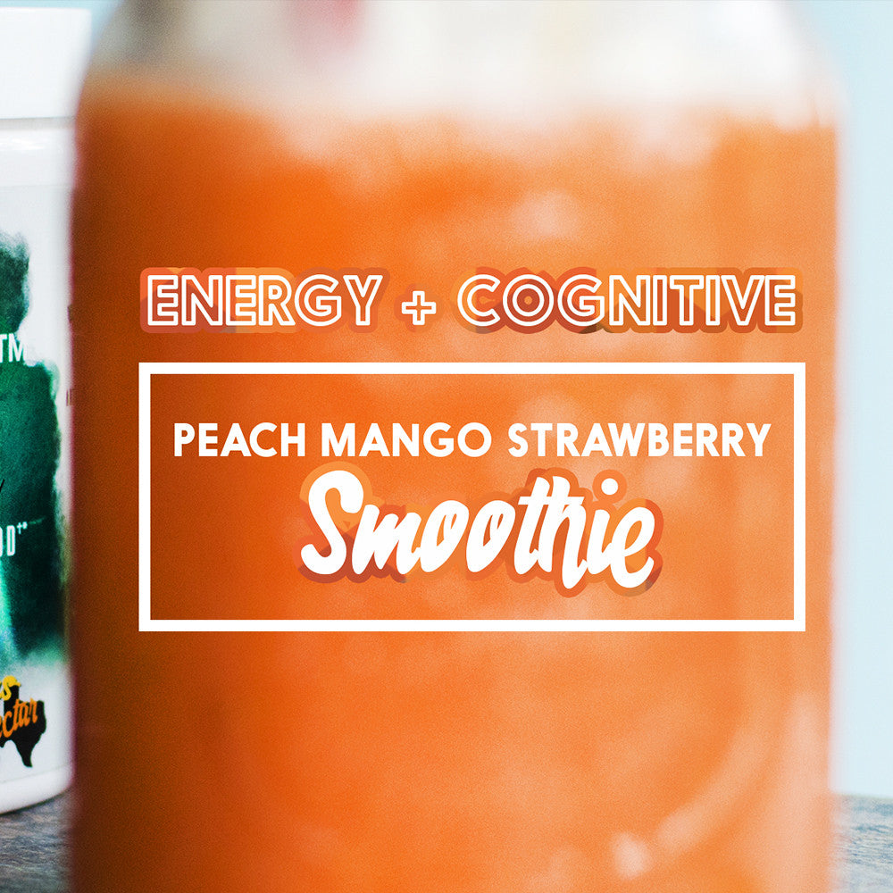 PEACH, MANGO, STRAWBERRY SMOOTHIE