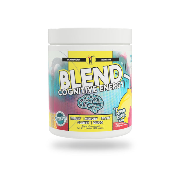 BLEND™ Cognitive Energy and Endurance Formula - LemonBerry Bomb - New Label & Improved Flavor