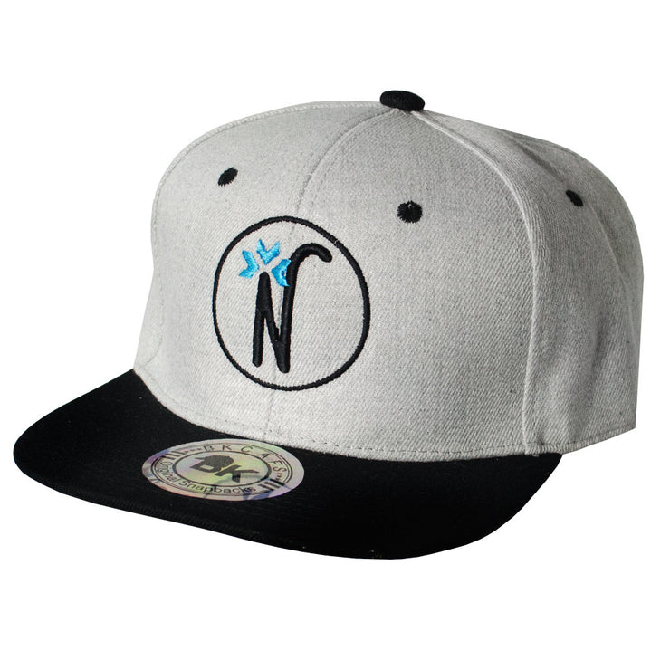 Gray & Black Snapback Hat