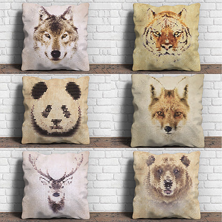 Unique Animal Print Throw Pillows | Witty Novelty