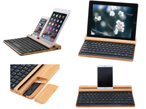 Wood Tablet Keyboard | Unique And Fun Gadgets & Gifts | Witty Novelty