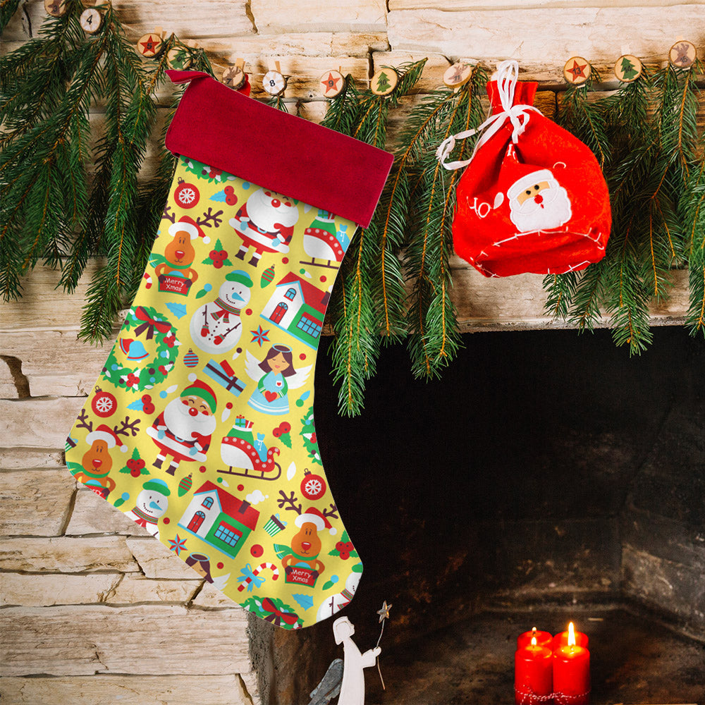 Santa Pug, Happy Santa, Gift Box Christmas Stockings | Christmas Stockings | Witty Novelty