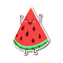 Cute Fruits - Happy Watermelon Sticker | Stickers | Witty Novelty