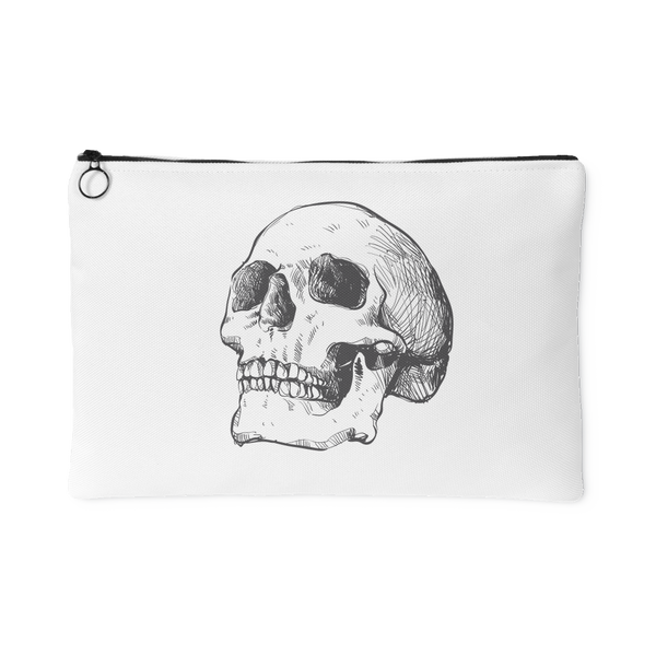 Hand Drawn Anatomical Human Skull #1 Accessory Pouch | Accessory Pouches | Witty Novelty