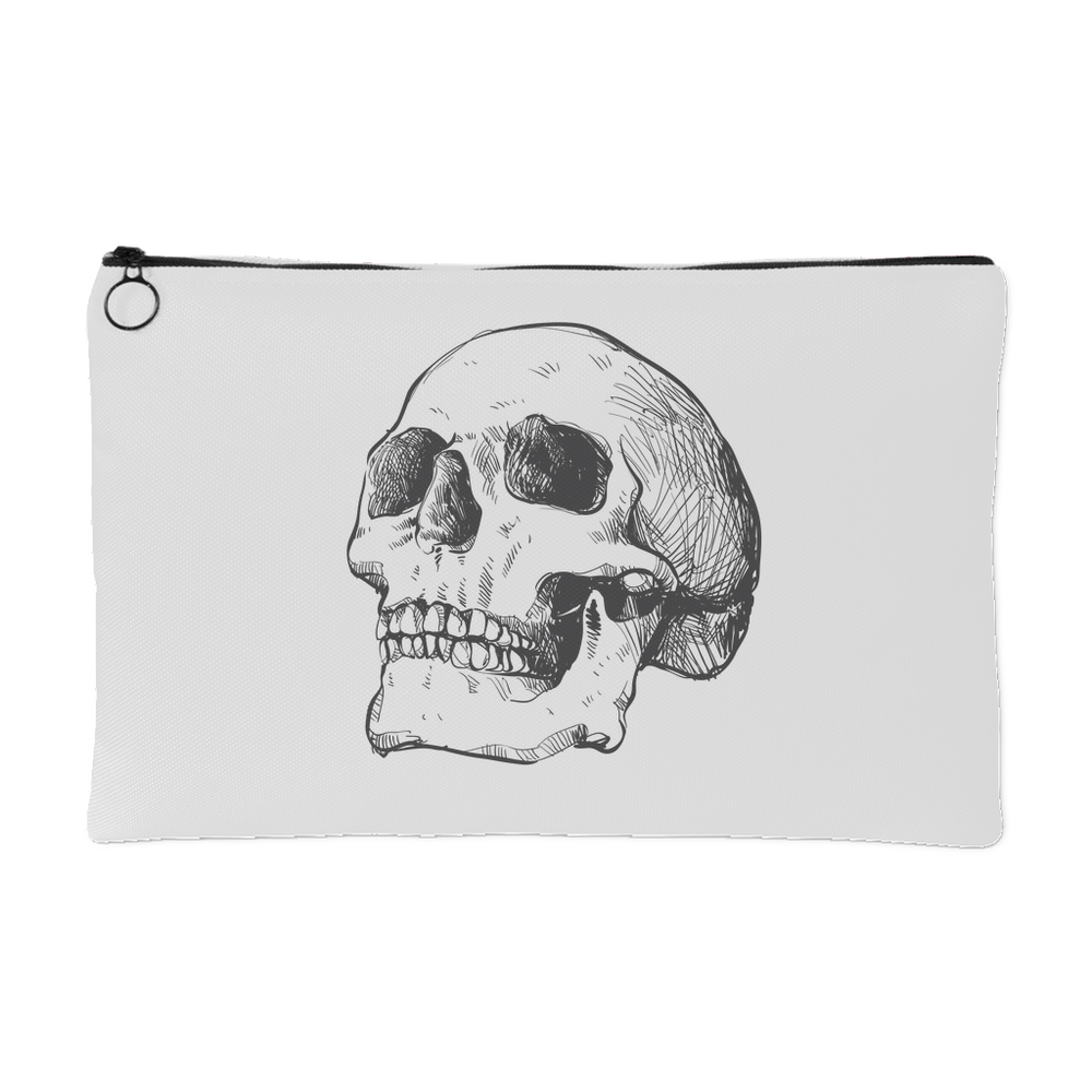 Hand Drawn Anatomical Human Skull #1 Accessory Pouch