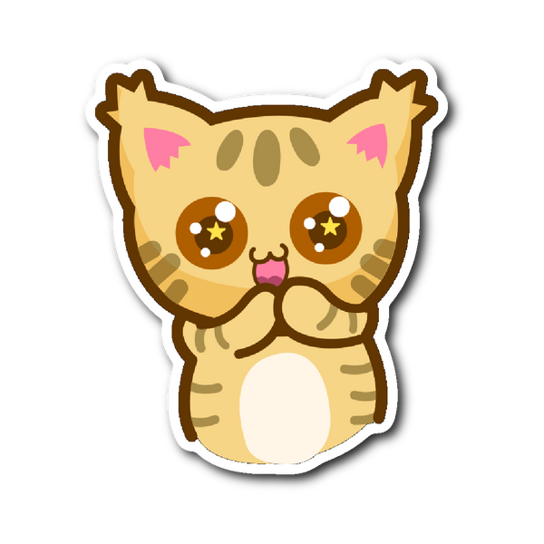 Cute Cat Stickers Series - Excited Kitty | Stickers | Witty Novelty