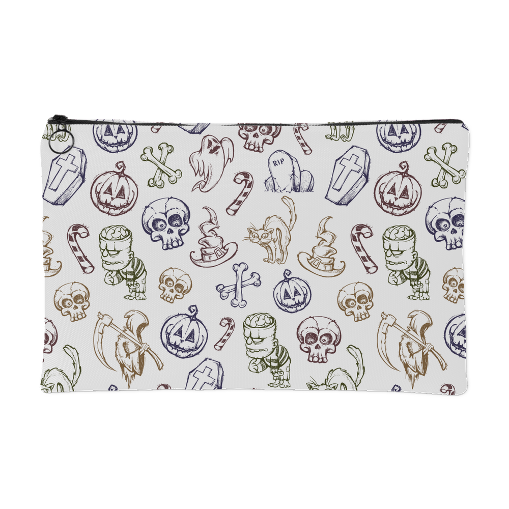 Cute Halloween Pattern Accessory Pouch