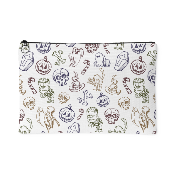 Cute Halloween Pattern Accessory Pouch | Accessory Pouches | Witty Novelty