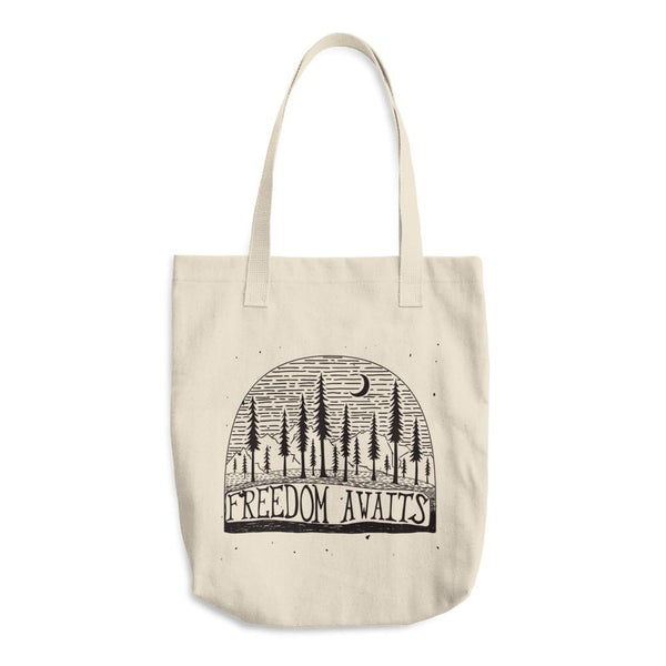 Freedom Awaits Cotton Tote Bag | Unique Bags & Unisex Gifts | Witty Novelty