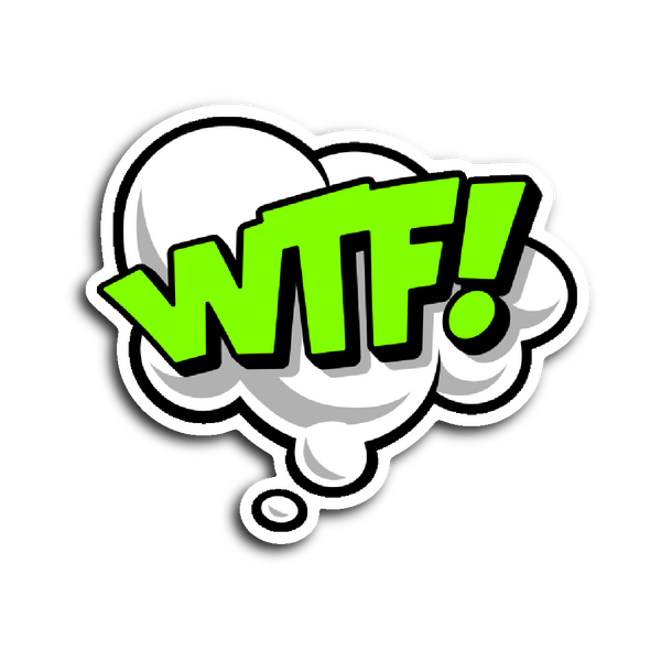 Comic Book Speech Balloon Stickers - WTF! | Stickers | Witty Novelty