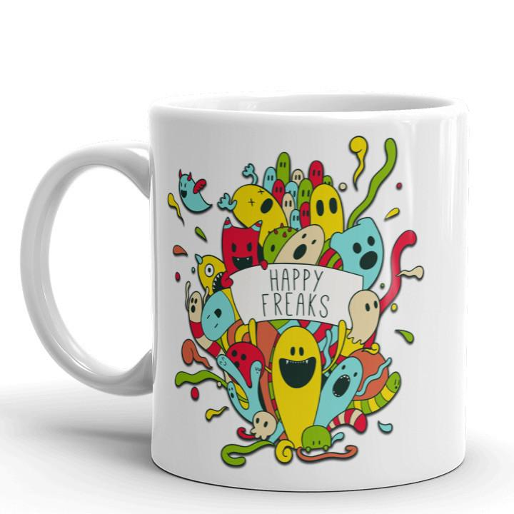 Happy Freaks Mug | Cool Gifts & Fun Mugs | Witty Novelty