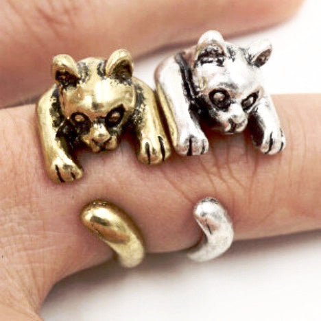 Clinging Kitten Ring | Animal Jewelry & Cute Gifts | Witty Novelty