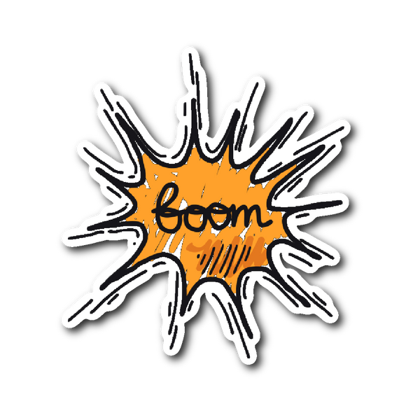 Hand Drawn Comic Book Speech Balloon Stickers - Boom2! | Stickers | Witty Novelty