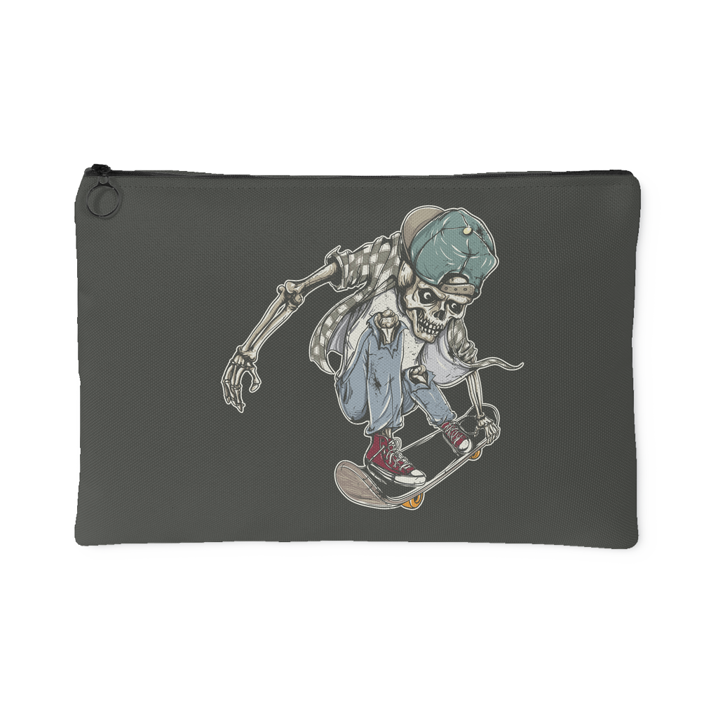 Cool Skeleton Skater Boy Accessory Pouch | Accessory Pouches | Witty Novelty