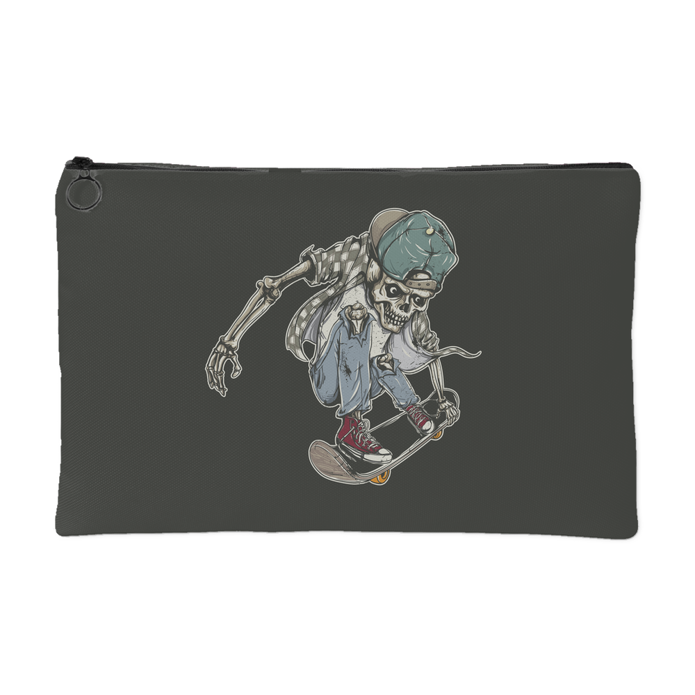 Cool Skeleton Skater Boy Accessory Pouch