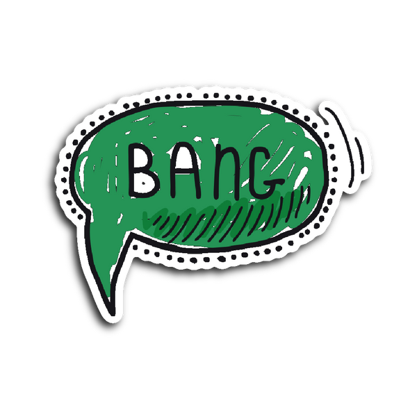 Hand Drawn Comic Book Speech Balloon Stickers - Bang2! | Stickers | Witty Novelty