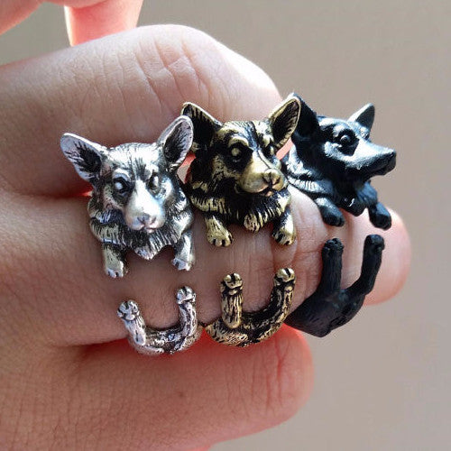 WELSH CORGI PUPPY RING | Animal Jewelry & Cute Gifts - Witty Novelty