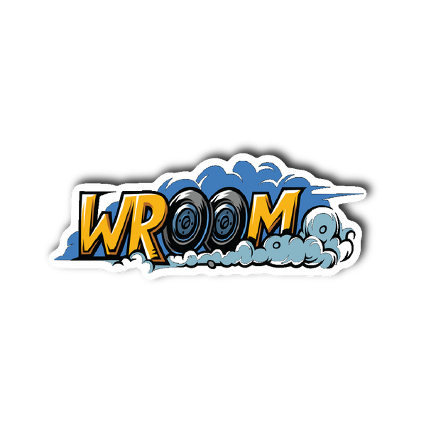 Wroom wroom! Sticker | Stickers | Witty Novelty
