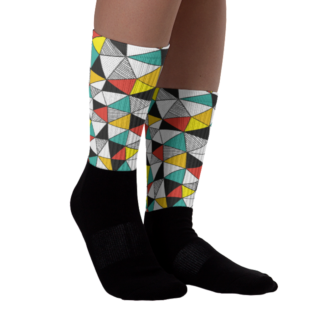 Geomania Black Foot Socks | Socks | Witty Novelty
