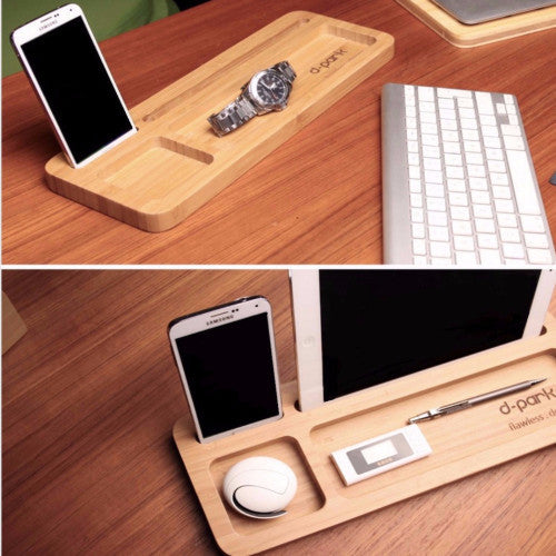Bamboo Desk Organizer | Office Gifts & Accessories | Witty Novelty