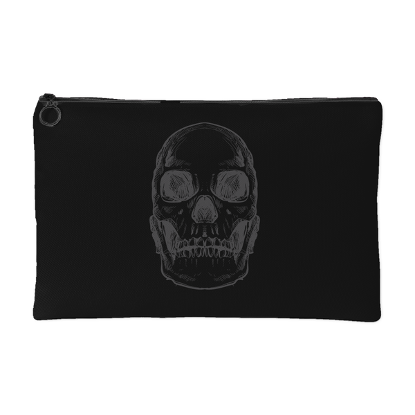 Hand Drawn X-Ray Anatomical Human Skull #2 Accessory Pouch | Accessory Pouches | Witty Novelty
