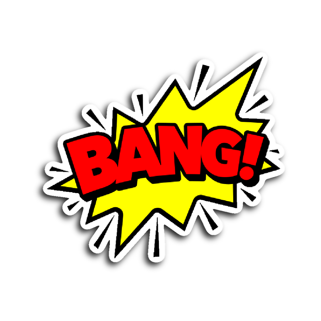 Comic Book Speech Balloon Stickers - Bang! | Stickers | Witty Novelty