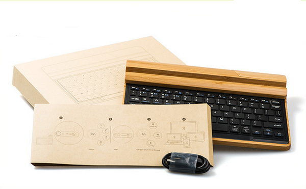 BAMBOO BLUETOOTH KEYBOARD | Unique Gifts For Gadget Lovers - Witty Novelty