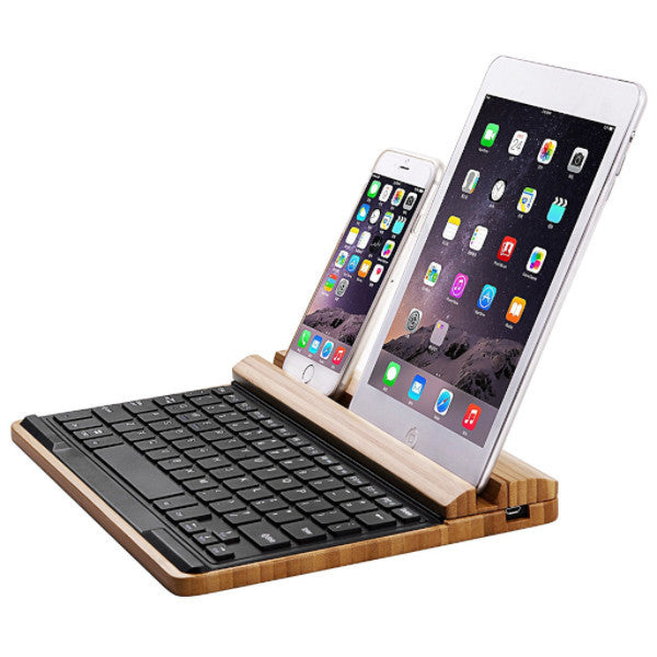 Bamboo Bluetooth Keyboard | Gifts For Gadget Lovers | Witty Novelty
