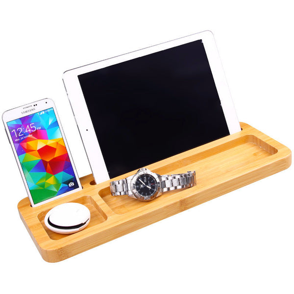 Bamboo Desk Organizer | Office Gifts U0026 Accessories | Witty Novelty