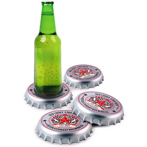 Bottle Cap Coasters | Unique Home & Office Decor | Witty Novelty