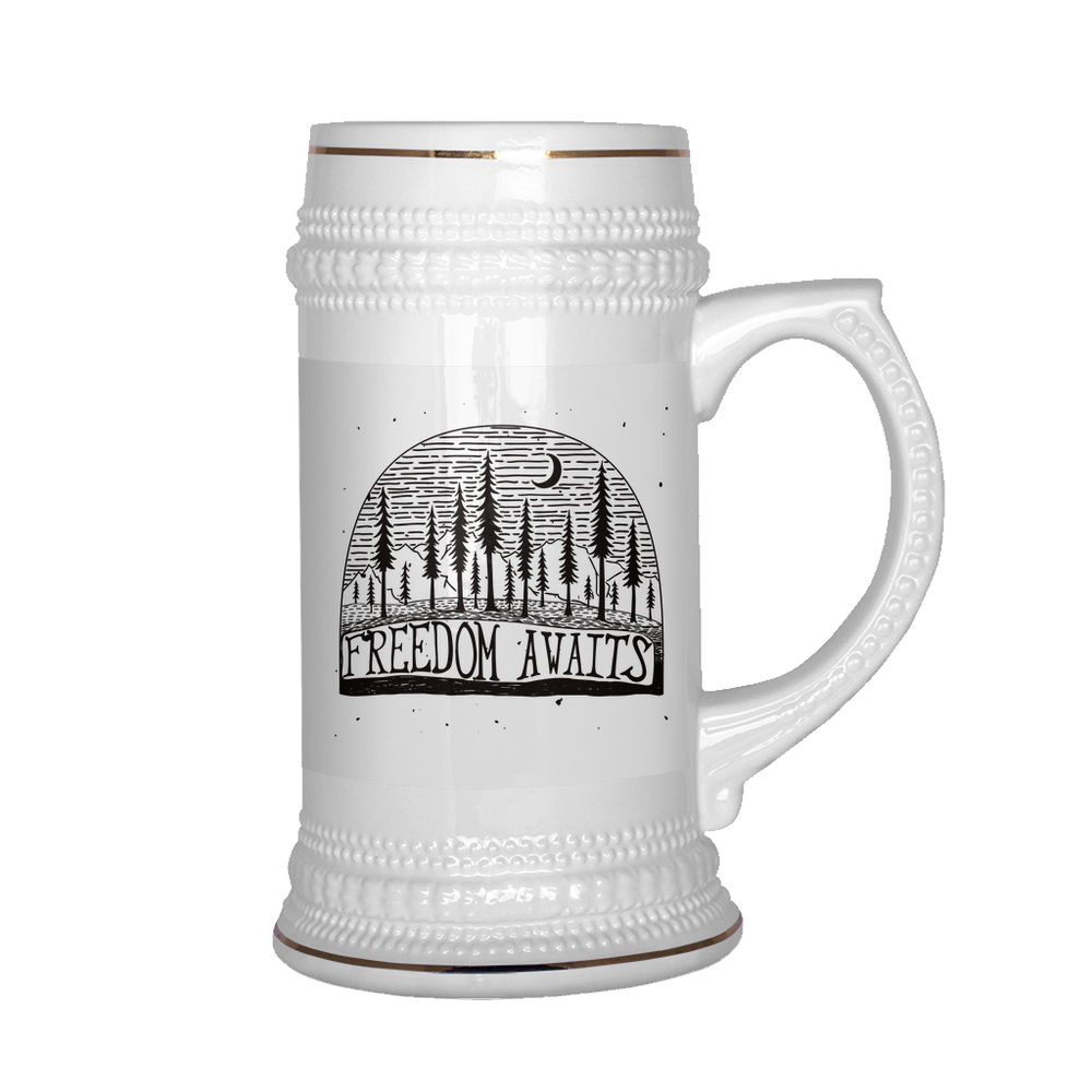 Freedom Awaits Beer Stein