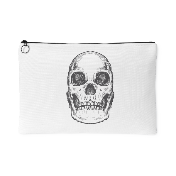 Hand Drawn Anatomical Human Skull #2 Accessory Pouch | Accessory Pouches | Witty Novelty