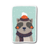 Adorable Animals in Winter Clothes - Raccoon Sticker | Stickers | Witty Novelty