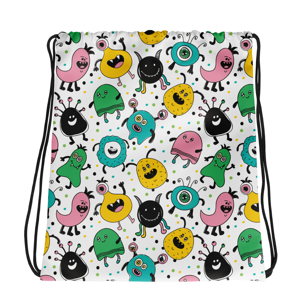 Cute Monsters Drawstring Bag | Drawstring Bags | Witty Novelty