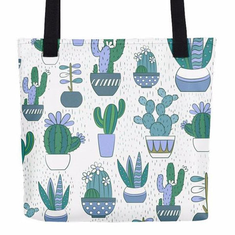 Cute Cactus Pattern Tote Bag
