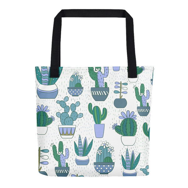 Cute Cactus Pattern Tote Bag | Unique Bags & Unisex Gifts | Witty Novelty