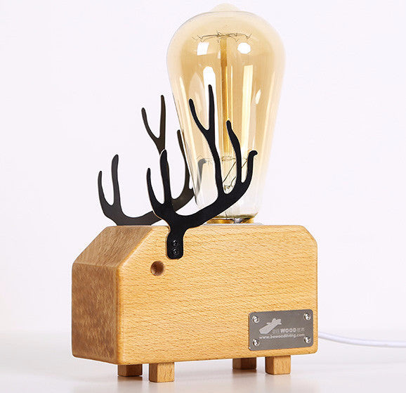 DEER NIGHT LAMP -  Wooden, unique Deer Night Lamp. Christmas gifts.