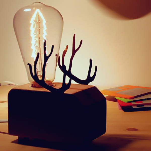 Deer Night Lamp | Unique Night Lamps & Edison Bulbs | Witty Novelty